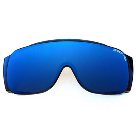 Blue Solid with Rose Lens-0