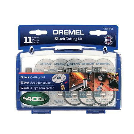 Dremel EZ Lock Mini Cutting Kit : 11 pc , Plastic & Metal-0