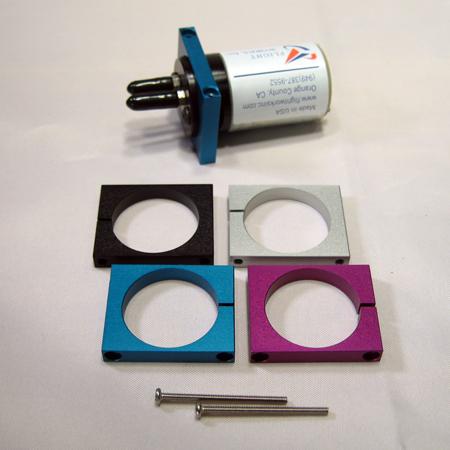 Fuel Pump Mount - Anodized Silver w/Screws