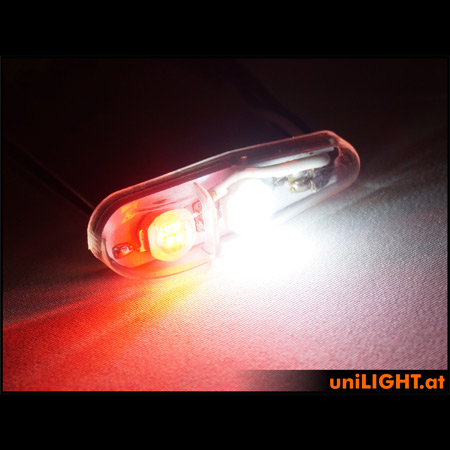 UniLight 16Wx2 Navigation & Strobe, 11mm, T-Fuse - Red/White-84704