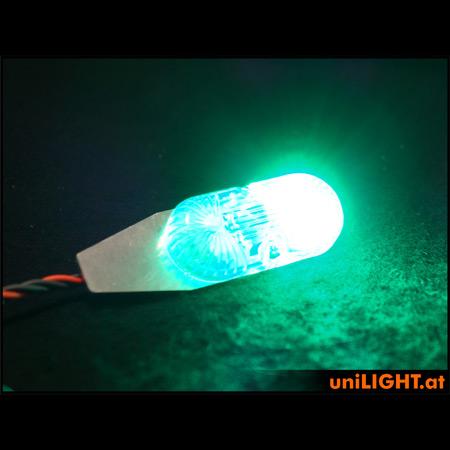 UniLight 24mm, 12Wx2 Navigation & Strobe, T-Fuse - Green/White-84869