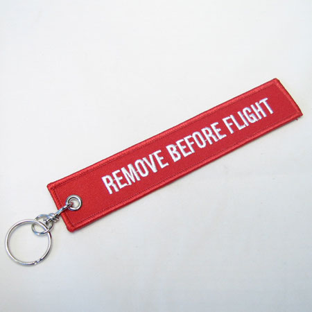Embroidered Remove Before Flight Tag-0