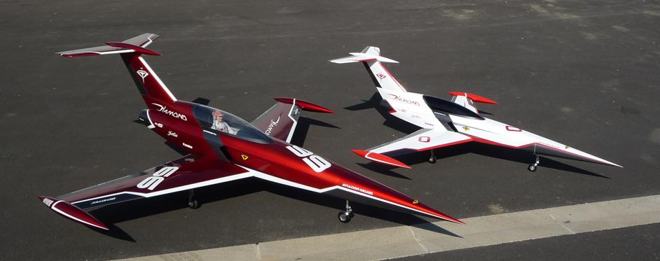 Aviation Design Mini Diamond ARF Racing - White Sport Jet-86814