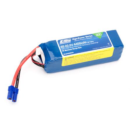 4400 6S 22.2V 30C LiPo, 10AWG EC5 Battery-0