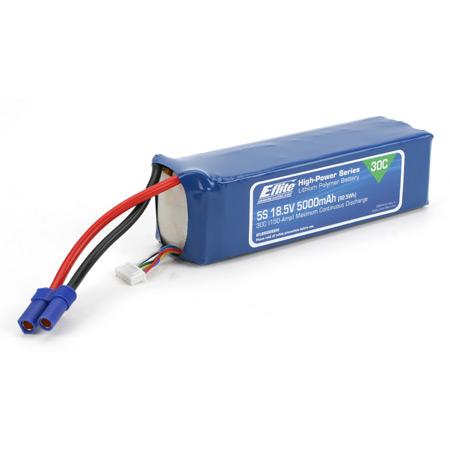 5000mAh 5S 18.5V 30C LiPo, 10AWG-0
