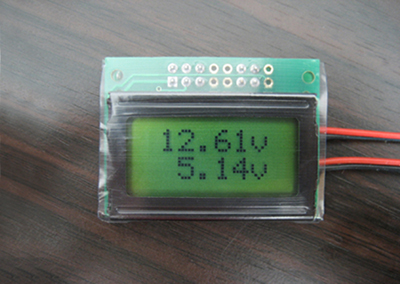 Two Channel LCD Voltmeter