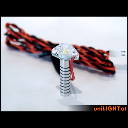 UniLight 8Wx2 Flashlight Utra-Power, 8mm - White-84636