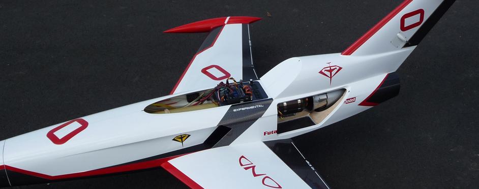 Aviation Design Mini Diamond ARF Racing - White Sport Jet-86813