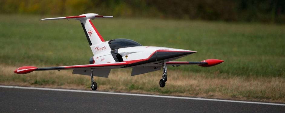Aviation Design Mini Diamond ARF Racing - White Sport Jet-86815