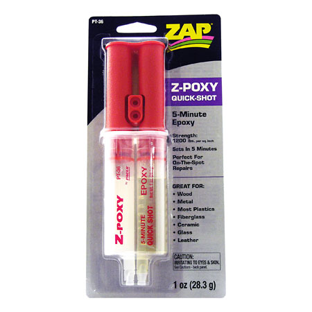 ZAP 5 Minute Quick Shot Epoxy, 1oz-0
