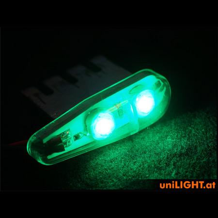 UniLight 4Wx2 Navigation Light, 11mm - Green-84688
