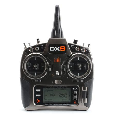 DX9 Black 9-Channel DSMX Transmitter Only, Mode 2-82275