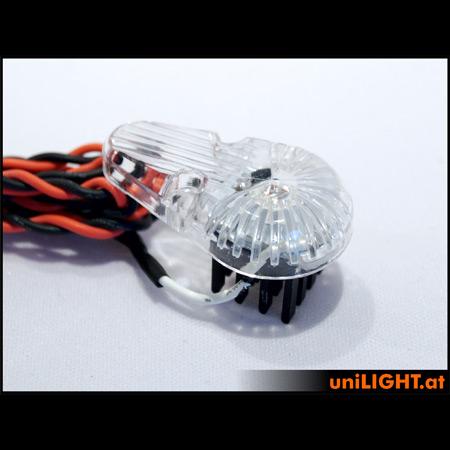 UniLight 8Wx2 universal STROBE, 10mm, T-Fuse - White-84749