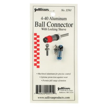 Sullivan 4-40 Aluminum Ball Link with Lock