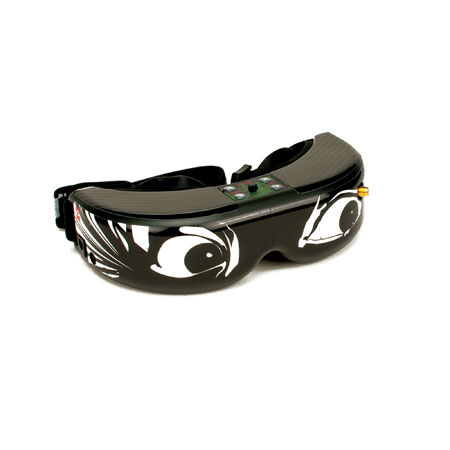 Spektrum/Fat Shark FPV Goggle Skin: Crazy Eyes-0