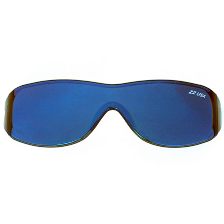 Pilot Style Blue Solid with Gray Lens-0