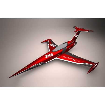 Aviation Design Diamond ARF Racing - Red Sport Jet-0
