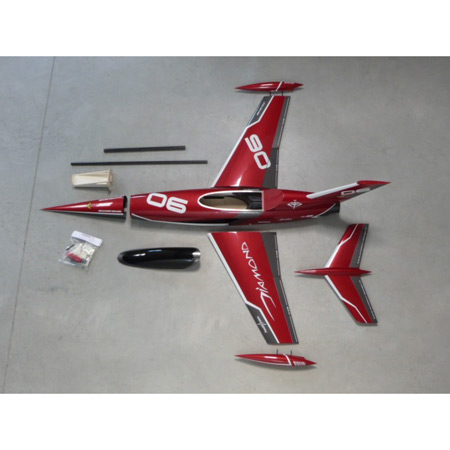 Aviation Design Mini Diamond ARF Racing - Red Sport Jet-0