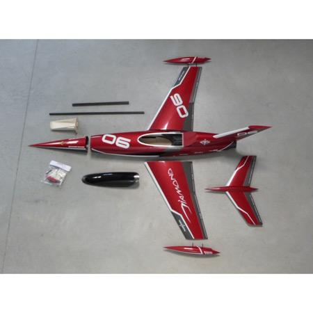 Aviation Design Mini Diamond ARF Racing - Red Sport Jet-0