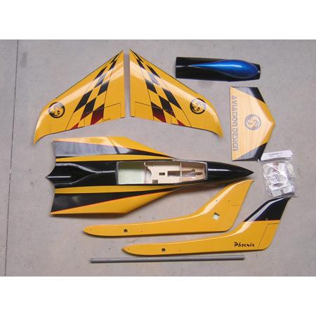Aviation Design Phoenix ARF Yellow/Black Sport Jet-0