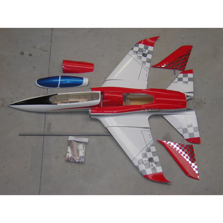Aviation Design Scorpion ARF Red/Silver Sport Jet-0