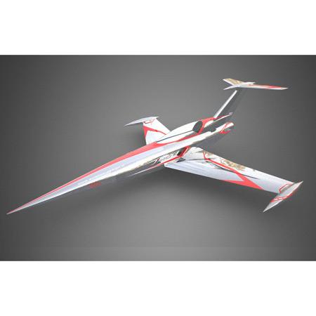 Aviation Design Diamond ARF Silver/Red Sport Jet-0