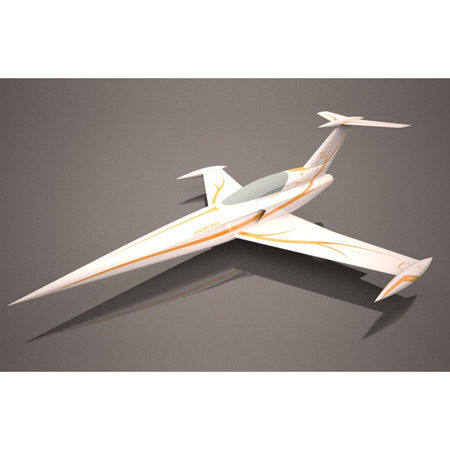 Aviation Design Diamond ARF White/Gold Sport Jet-0