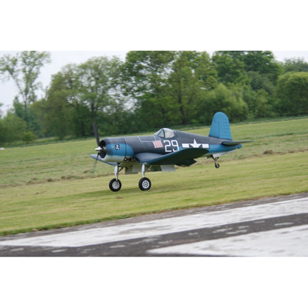 CARF - F4U-1D Corsair All Silver / Plugin Wings ARF