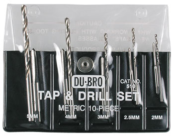 Dubro Tap & Drill Set Metric-0