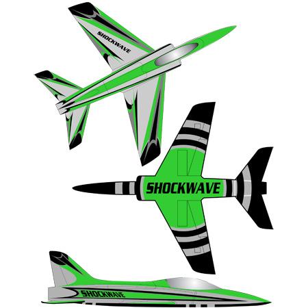 Shockwave Kit-Base Silver Metallic-Green & Black Trim-0