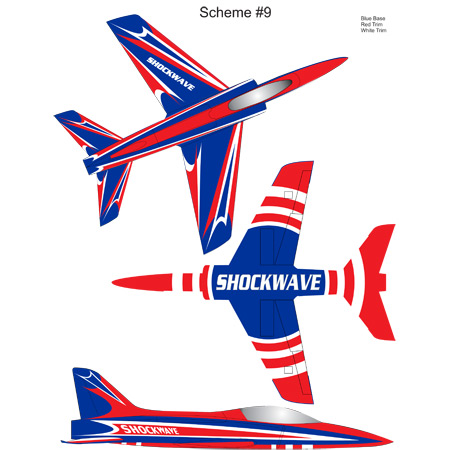 Shockwave Kit-Base Blue-Red & White Trim-0