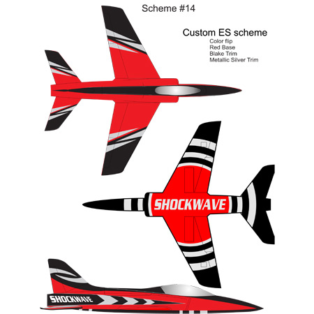 Elite Aerosports Shockwave Sports Jet Scheme #14-0
