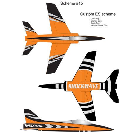 Shockwave Kit-Base Orange-Black & Silver Metallic Trim-0