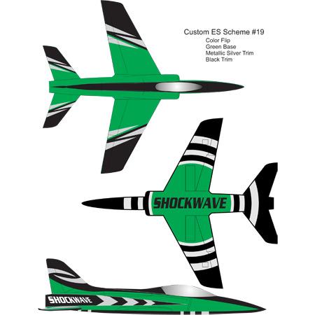 Shockwave Kit-Base Green-Black & Silver Trim-0