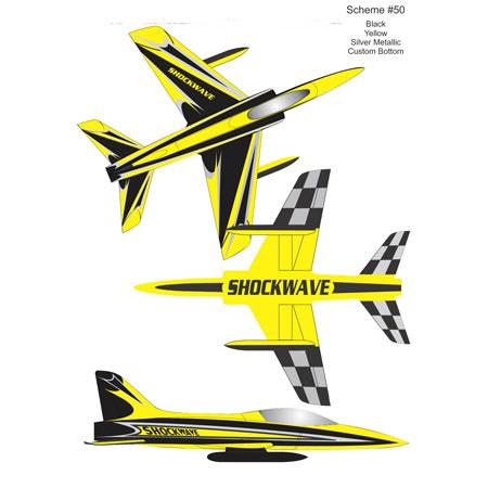 Shockwave Kit-Black/Yellow/Silver Metallic-0