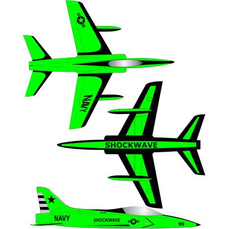 Shockwave Kit-Green/Black Navy-0
