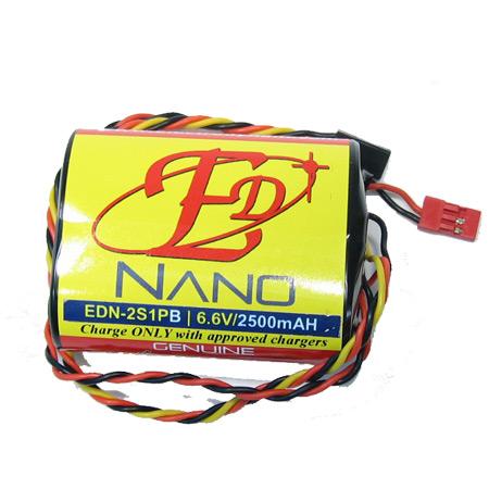 ED-Nano 6.6V 2500mAH - 22AWG Rx/JR Node/Balance Connector-0
