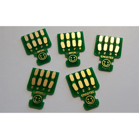 EMCOTEC MPX Soldering PCBs 8pin, 5 pieces