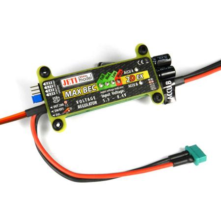 Jeti Voltage Regulator MAX BEC 2D Plus EX 5-6V/20A w/Magnetic Switch