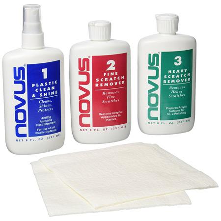 Novus Plastic Polish Kit 8 Oz., Scratch Remover & Polish-0