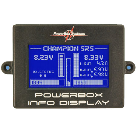 PowerBox Champion SRS, incl. Sensor Switch, LCD