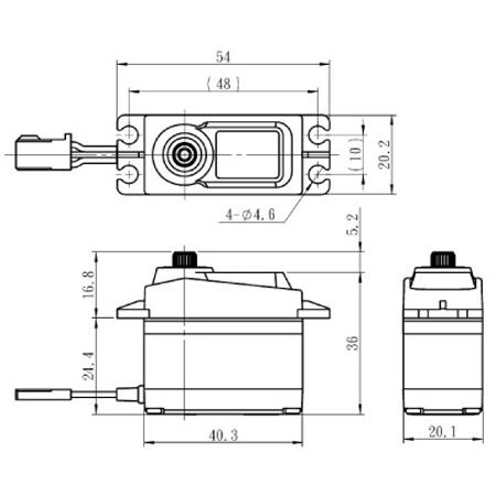 """Savox SC-1256TG Standard Digital """"High Torque"""" Titanium Gear Servo-82961"""