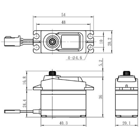 """Savox SC-1258TG Digital """"High Speed"""" Titanium Gear Servo"""