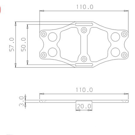 SECRAFT Battery Bed V2_M - Blue-82609