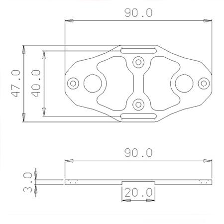 SECRAFT Battery Bed V2_S - Blue-82664