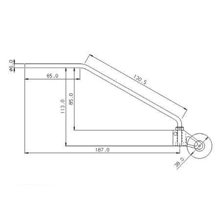 Titanium Tail Assy for 33_V2 - Red-82627