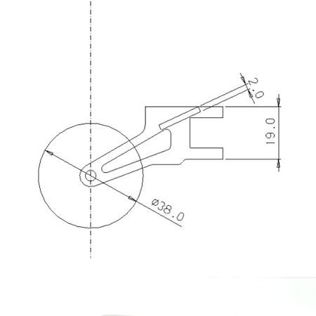 Titanium Tail Assy for 33_V2 - Red-82624