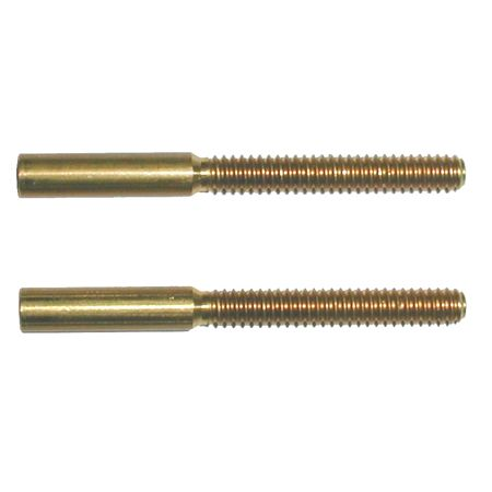 4-40 Threaded Brass Couplers - 2 pack