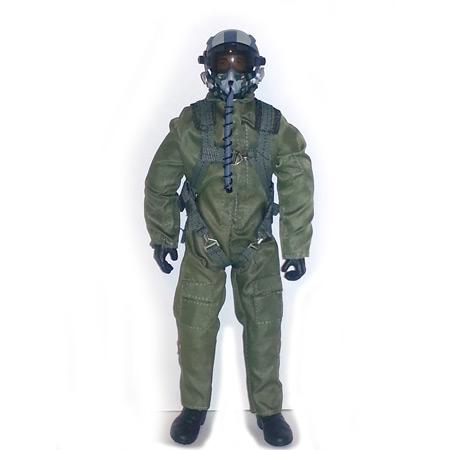 """10"""" Tall Modern Jet Pilot - Green Servo Operated Head-0"""