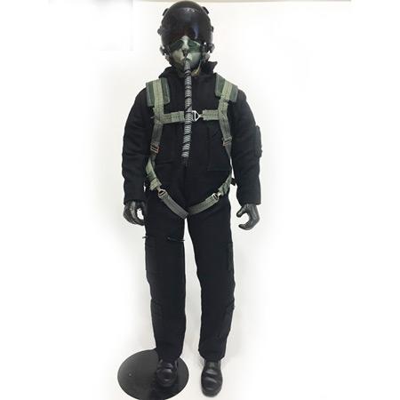 "10"" Tall Modern Jet Pilot - Black-0"